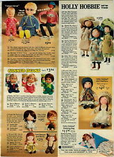 1975 ADVERTISEMENT Doll Holly Hobbie Canned Beans Mrs Beasley JJ Drowsy Heather
