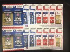 Chicago Cubs 2017 Playoffs Ticket Sheet vs. Nationals & Dodgers - Uncut