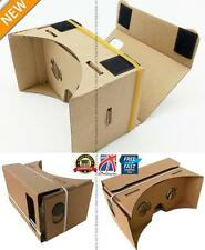 "DIY Google Cardboard Virtual Reality VR Mobile Phone 3D Glasses fr 5.5"" Screen M"