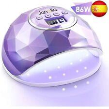 Janolia Lámpara Secador de Uñas, LED UV Lámpara de Uñas 86W con 4 Ajuste de Tem