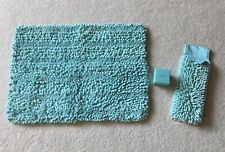 NORWEX Tiffany Blue* Sea Mist Chenille Bath Mat Rug and Towel Set *NEW*