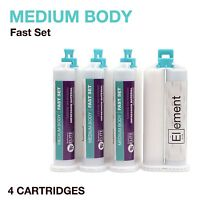 Element MEDIUM BODY VPS PVS Impression Material FAST Set 4 X 50ML Cartridges