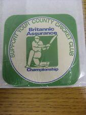 circa 1990's Cricket: Beer Matt - Britannic Assurance Championship, Support Your