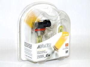 Nokya 2500K 65w Hyper Yellow H9 Halogen HeadLight High Beam Bulbs