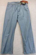 IRON Co NEW YORK Mens BLUE Low Rise SLIM FIT KHAKI CHINO PANTS NWT 32 x 32