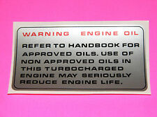 range rover classic and discovery engine oil decal 300 tdi