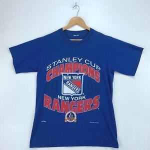 1994 New York Rangers Stanley Cup Champions Nutmeg Vintage T-shirt Medium Nhl