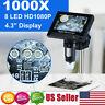 1000X Zoom Digital Video Electronic Microscope HD 720P 8LED w/ 4.3'' LCD Screen