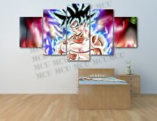 Dragon Ball Z Goku super oil Painting Printed canvas wall art home Decor 5 Piece