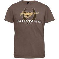 Ford - Mustang Horseshoe Logo Soft Adult Mens T-Shirt