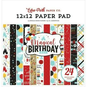 Birthday Happy Cake Balloons Party Boy Magical Wish 12 x 12 Echo Park Paper Pad