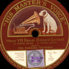 MARJORIE HAYWARD -Violin-  Henry VIII Dances (Edward German)  1&2   78rpm  G2682