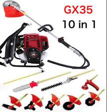 GX35 Backpack 10 in 1 Multi garden Brush Cutter whipper snipper chain saw pruner