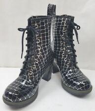 Dr. Martens Women's  Darcie Diva Dancer 8 Eye Heel Boot Black Croco US 7