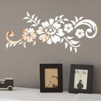 3D Wandtattoo Spiegel Wandaufkleber Abnehmbare Acryl DIY Kunst Heim Dekoration