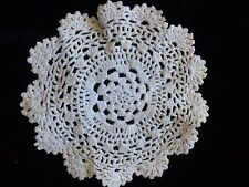 Antique Crochet Lace Round For Bonnets Doll Rugs Costume Studio Craft Art Dolls