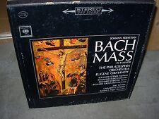 ORMANDY / BACH mass in b minor ( classical ) 3lp box columbia stereo 2 eye