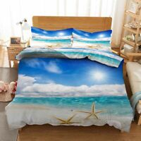 Waves Fierce Sky 3D Printing Duvet Quilt Doona Covers Pillow Case Bedding Sets