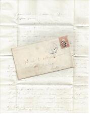 1867 Zanesville Muskingum County Ohio Cover 'Shield' Cancel w/Letter: Notre Dame