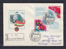RUSSIA 1985, Registered Cover from Baikonur to Leningrad, Used