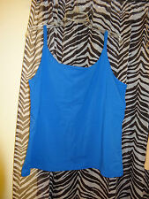 """COLLEEN LOPEZ """"My Favorite Things"""" Royal Blue Sleeveless Top Size 2X"""