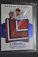 2018 Panini Flawless - Shohei Ohtani - Rookie Patches - Saphire - RP-SO1 - 03/15