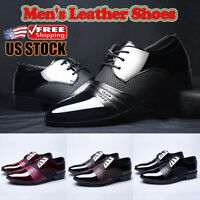 Men's Leather Shoes Casual Lace Up Formal Business Loafers Oxford Dress Shoes US
