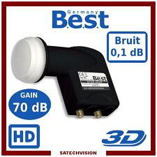 Lnb Twin 0 1 DB Full HD Best Germany Tête Parabole 2 sorties