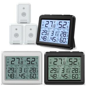 1x Digital Outdoor Indoor Thermometer Hygrometer Temperature Humidity 1/3 Sensor