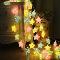 10-40 LEDS Star Fairy String Light Indoor Christmas Party Decor Lamp Warm Modern