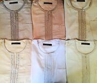 2 Piece Arabic Shirt Dress Islam Thobe Trouser North African Libya Afghan Long