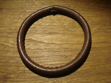Peace Glove Size Medium Brown Cool! New Solid Round Leather Bracelet Bangle Boho