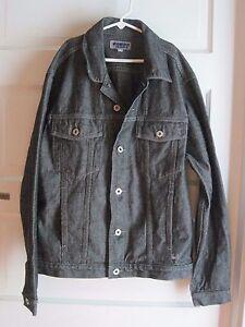 Guess Jeans Youth Kids Boys Denim Jean Trucker Jacket 16 18 Black Street Urban