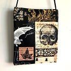 New Handmade Goth/Steampunk Crossbody Bag, Edgar Allan Poe