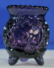 CROESUS PURPLE Footed TOOTHPICK HOLDER Great Color$10!!