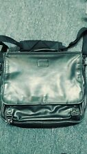 TUMI Black Leather Laptop Messenger Bag Briefcase Carry On