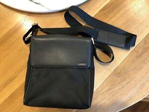 Ermenegildo Zegna Small Shoulder/Messenger Bag - TexturedLeather & Material