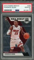 Kendrick Nunn Miami Heat 2019 Panini Mosaic Basketball Rookie Card RC 268 PSA 10