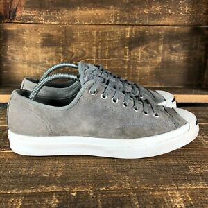 Converse Mens Jack Purcell Oxford 155345C Gray Lace Up Sneakers Shoes Size 9