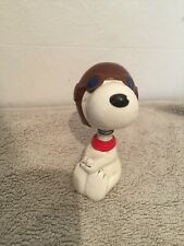 Vintage Peanuts Snoppy Bobble Head Nodder Pilot Figure 1960s