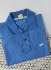 New Hollister by Abercrombie & Fitch Men Short Sleeve Polo Tee T-shirt Blue S