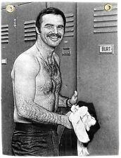 Burt Reynolds Nylon Flag Banner Black White Movie Still Photo without a Shirt