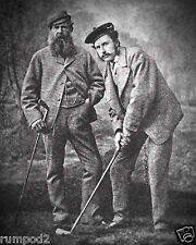 Vintage Golf  Poster/B&W /Old Tom Morris/Tom Morris Jr./16x20 inch