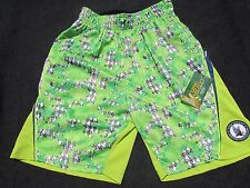 Nwt Flow Society Youth Small Key Lime 331 Camo Perf Lacrosse Shorts New