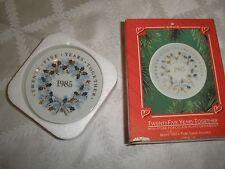 1985 Vintage Hallmark Collector'S Plate, Twenty Five Years Together ~T8419