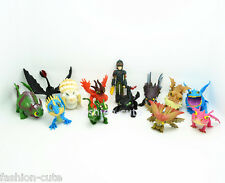Lot 13 pcs How to Train Your Dragon Hiccup Toothless Stormfly Toy Action Figures