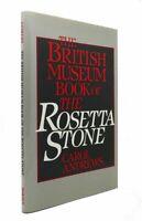 Carol Andrews BRITISH MUSEUM BOOK OF THE ROSETTA STONE  1st Edition 1st Printing