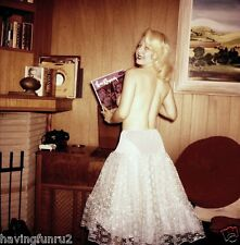 Vintage 1960s Topless Blonde at HIFI with Decca Record 8 x 8 Photograph