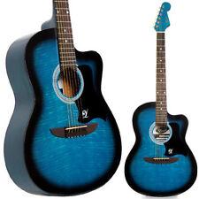 Guitares acoustiques bleus