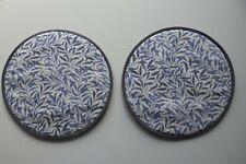 Set 2 Aga Hob Covers. William Morris willowbough in blue.